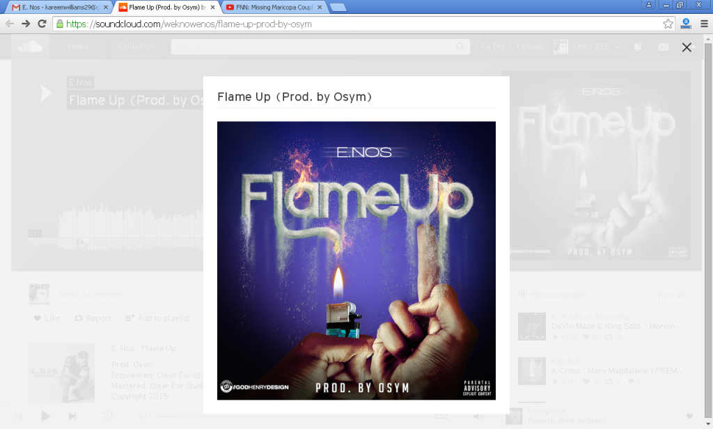 Track: E Nos - Flame Up Produced By Osym